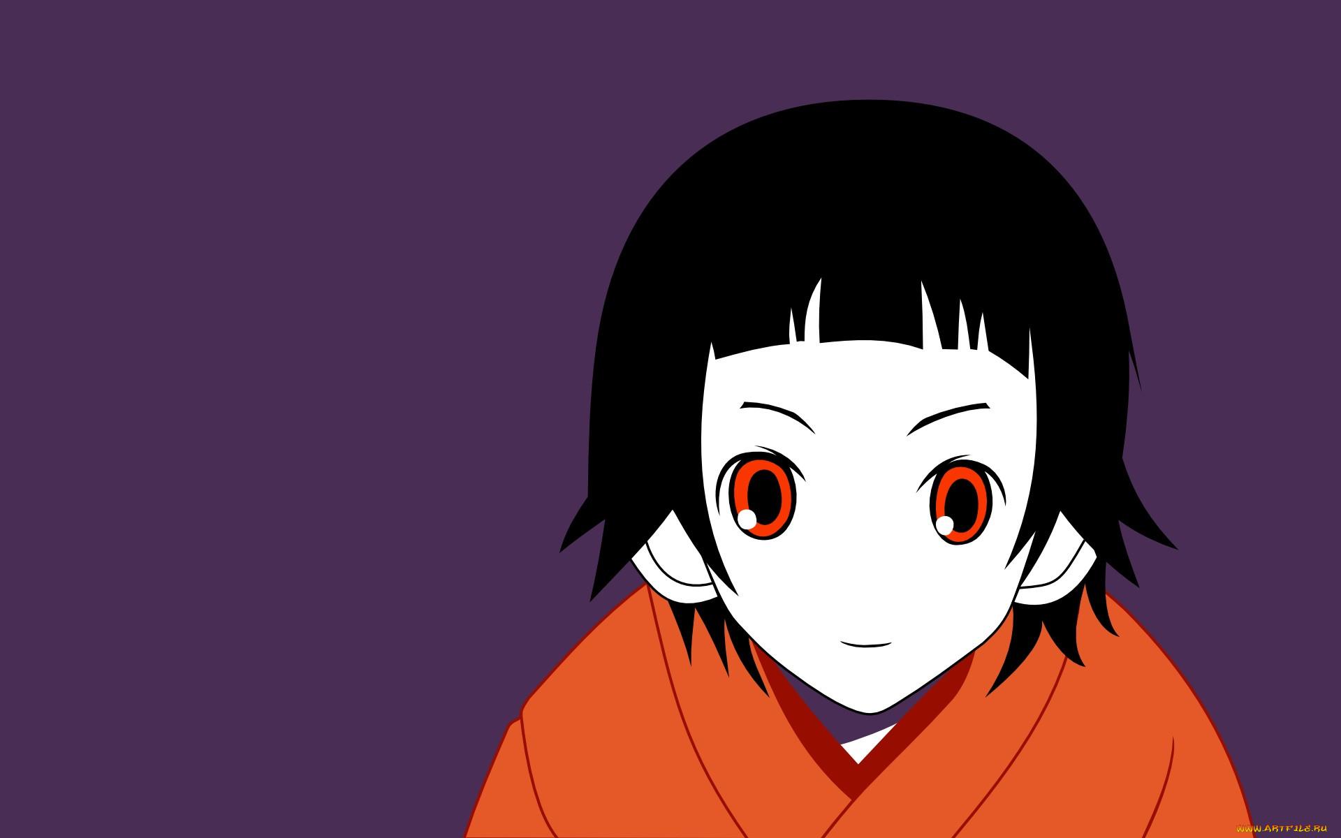 аниме, sayonara zetsubo sensei, девушка, взгляд, фон